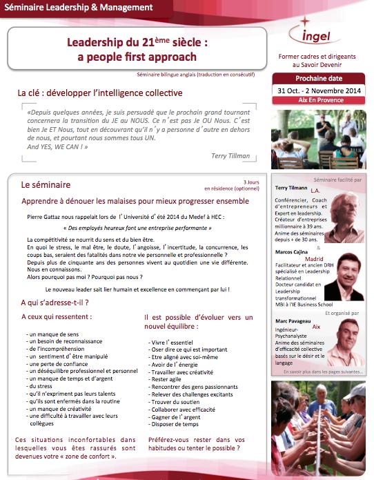 LeadershipDu21emeSiecle-TerryTillman-INGEL-31oct2014-Fr-p1