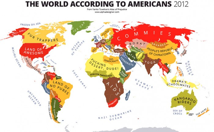 31 Cartes de stéréotypes sur le Monde selon différents points de vue