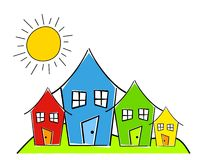http://www.dreamstime.com/royalty-free-stock-photography-childlike-row-houses-image6438737