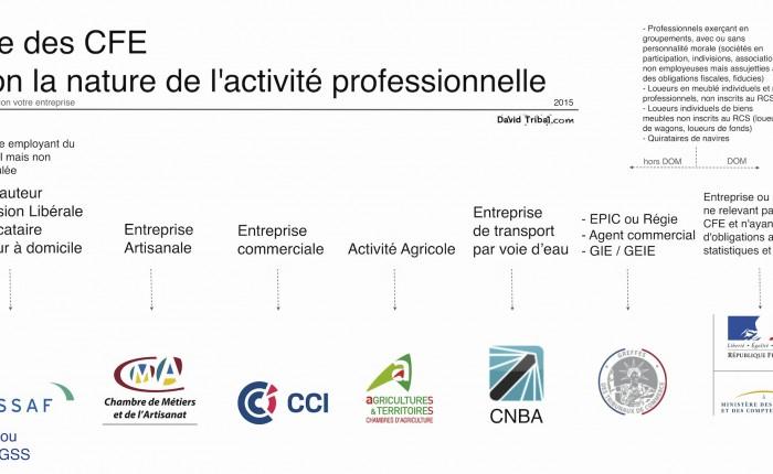 Liste des Centres de Formalités des Entreprises (CFE) selon la nature de l'activité professionnelle