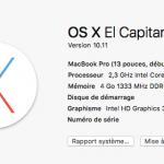 Passer de Mac OS X Mavericks 10.9.4 à El Capitan sur un Mac Book Pro de 2011 avec 4Go de Ram … c'est possible !