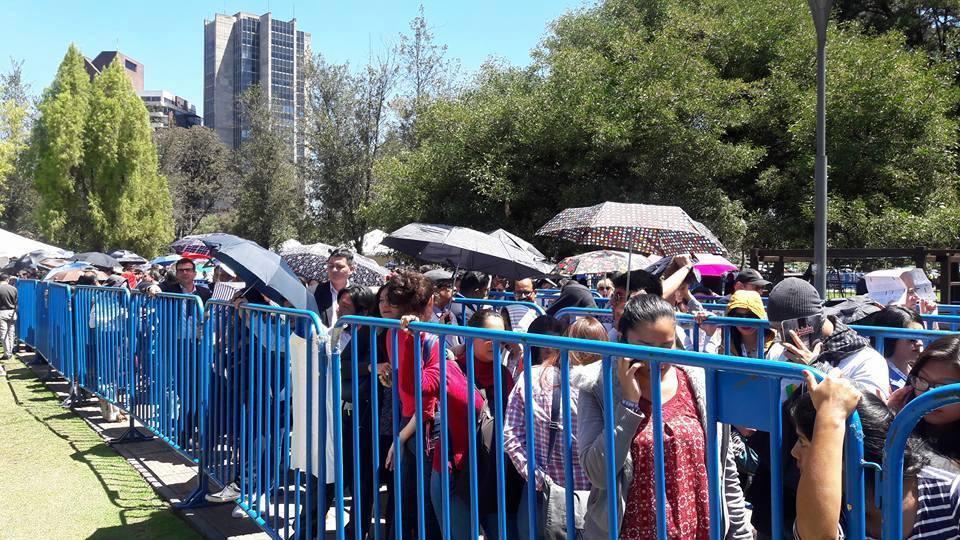 Files d'attentes dans le park El Ejido
