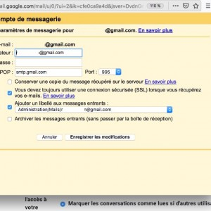 Redirection GMAIL – Erreur/Error – « [AUTH] Username and password not accepted. » – App Password solution