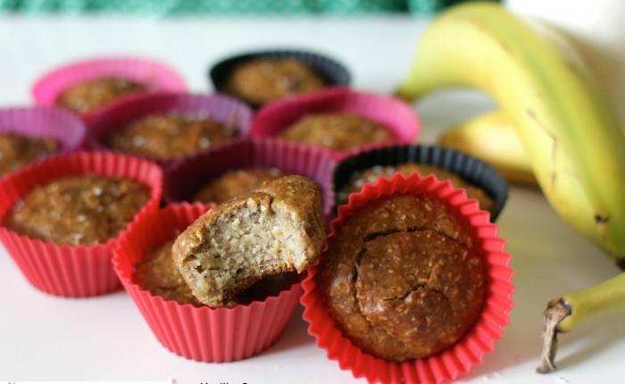 Muffins Vegan noix de coco-banane (sans gluten) – by Kmille Saveurs