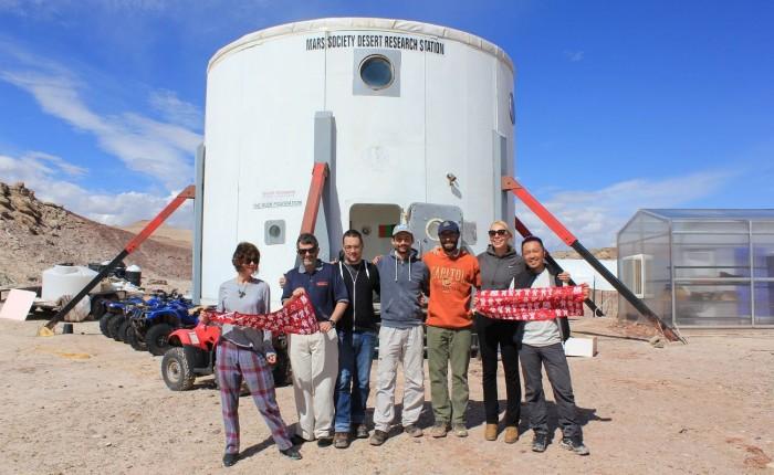 7 aventuriers en terrain Marsien…