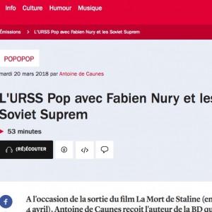 La mort de Staline en 1min30 par Fabien Nury – «Le mec meurt de justice poétique, il meurt de la terreur qu'il a engendré»
