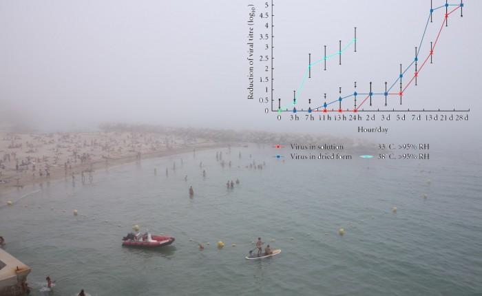 Présence du Coronavirus sous forme de brouillard ou aerosolisé – et influence de la température et de l'hygrométrie